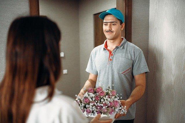 livreur de fleurs